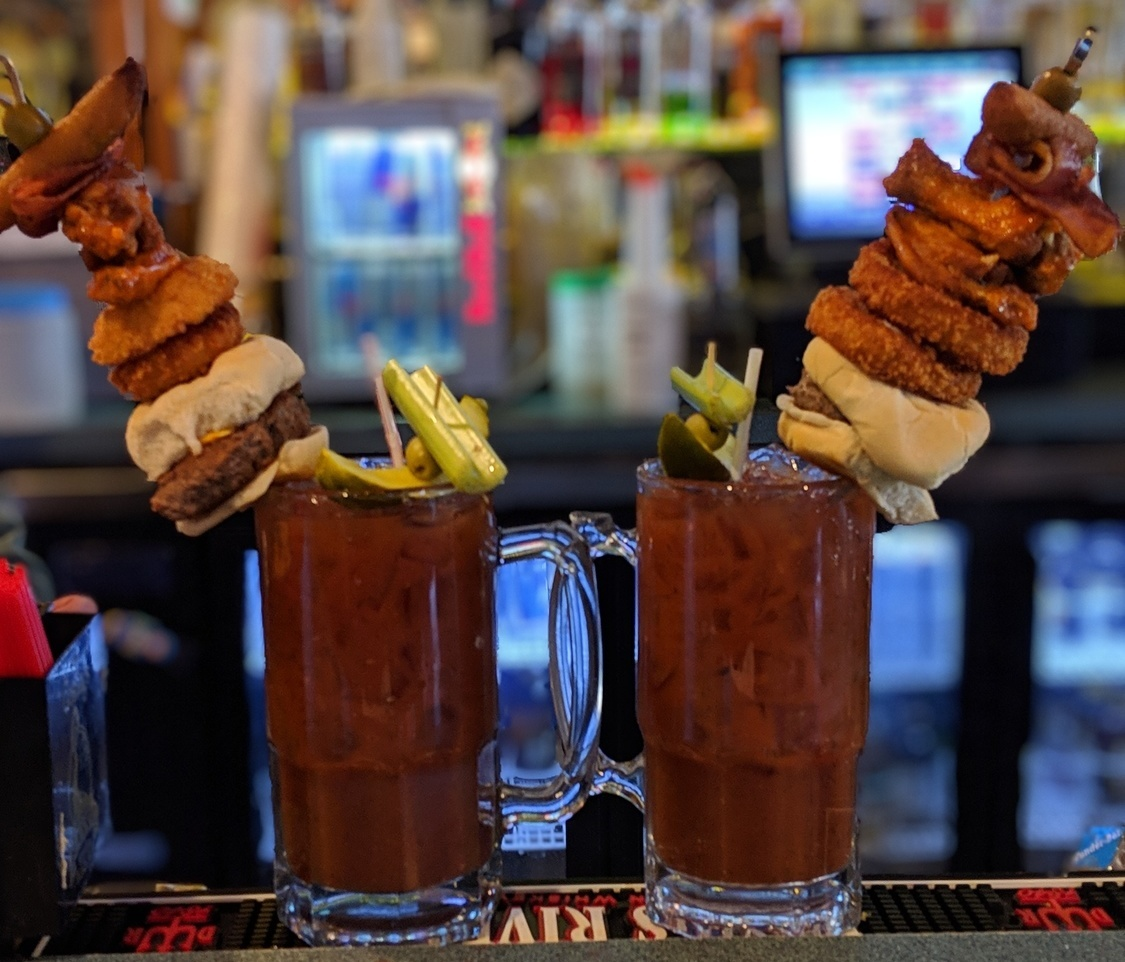 Bloody Mary, Slider, Wings, Onion Wings, Fried Pickle